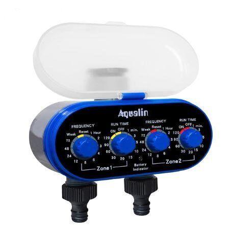 Электронный таймер Aqualin для полива на 2 линии с шаровыми клапанами