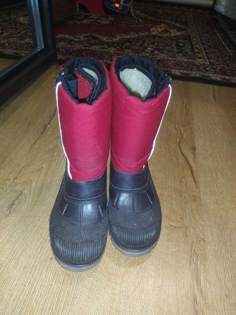 Резиновые тёплые сапоги 34-35 размер, 22.5 см.