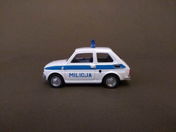 Fiat 126p MILICJA Skala 1:43 Konwersja
