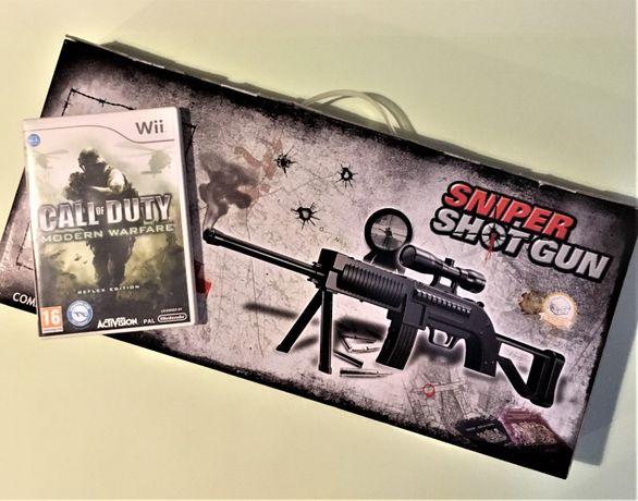 Jogo Wii Call of Duty: Modern Warfare Reflex + Arma (como novo)