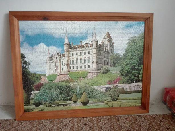 Sprzedam obraz z zamkiem z puzzli