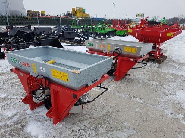 Rozsiewacz dwutarczowy GRASS ROL pojemność 600l hydraulika NOWY