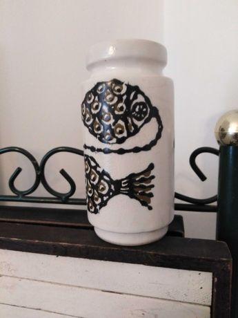 Vintage solniczka ceramiczna Ryby
