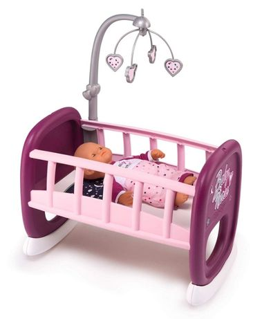 Колыбель Smoby Toys Baby Nurse Прованс с мобилем 47 см 220343