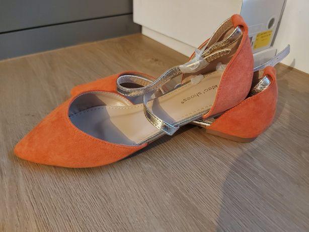 Piękne nowe balerinki, sandały. Neonowe, hit sezonu.