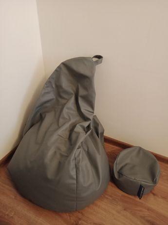 Pufa sako fotel podnóżek