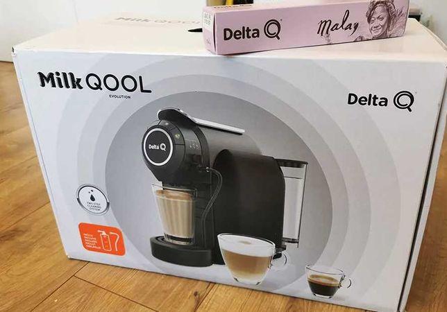 Ekspres do kawy z Biedronki Delta Q Milk Evolution ze spieniaczem