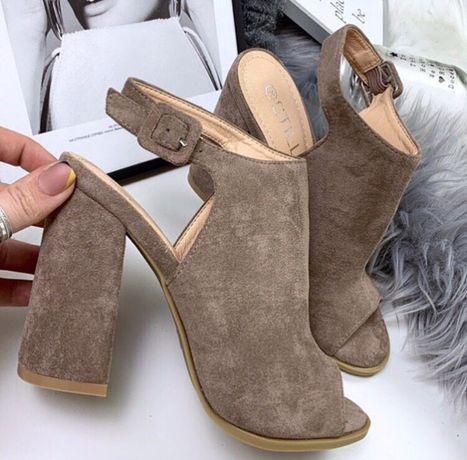 Босоножки туфли сабо на высоком каблуке