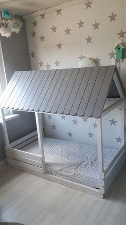 Łóżko, łórzeczko, domek dziecięcy, drewniany