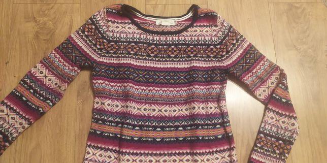 Sweterek damski sweter kolorowy ciepły H&M S