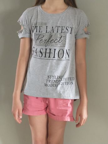 Bluzka dziewczęca 128 cm