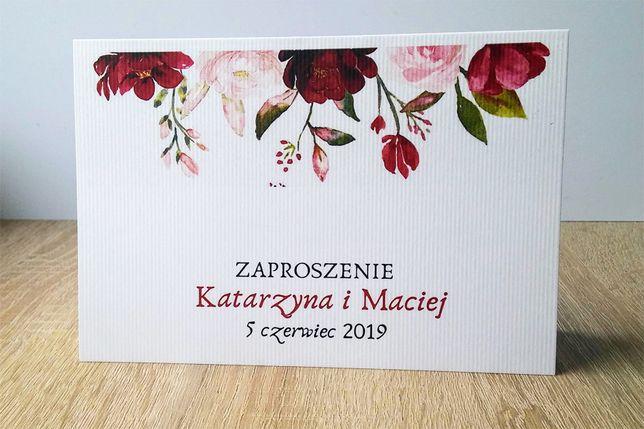 Zaproszenia Ślubne RUSTYKALNE BOHO KWIATY - nowe