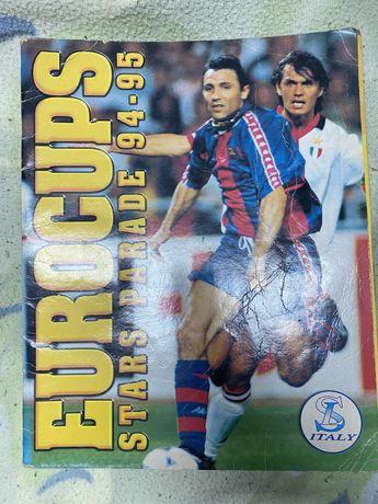 Caderneta de cromos completa eurocups 94/95 futebol panini italy sl ls