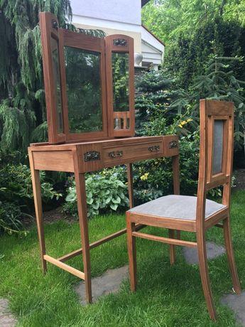 Toaletka, antyk lata 20-30 + krzesło