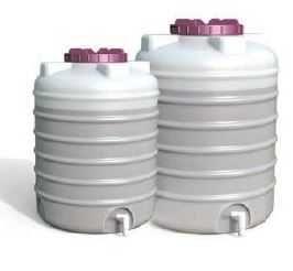 Barril Plastico Deposito Vertical Empilhável c/ torneira 500 e 1000Lts