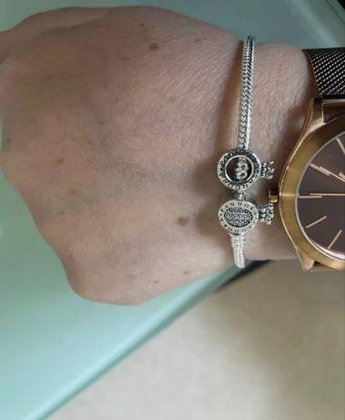 Bransoletka Pandora 19cm koronka próba S925 ALE