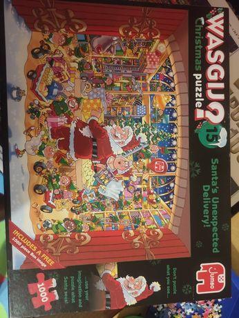 Puzzle Wasgij 2x 1000 swiateczne kompletne