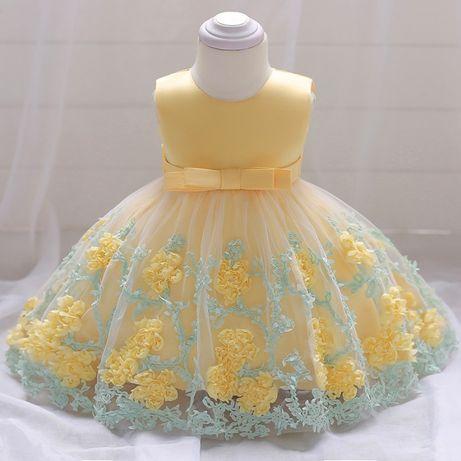 Новое нарядное платье, размеры от 0 до 9 лет (святкове плаття на свято