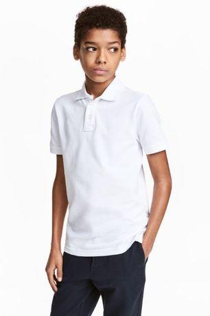 Zara biała koszulka chłopięca polo POLÓWKA na lato dla chłopca 7 lat
