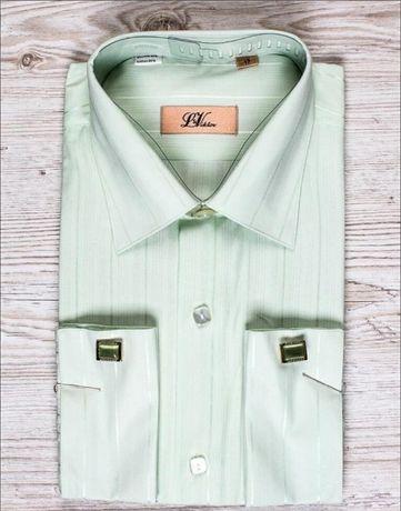 Рубашка мужская на запонках, 56 р.