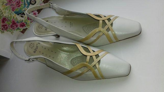 Шкіряні літні туфлі