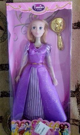 Кукла Рапунцель музыкальная шарнирная 30 см