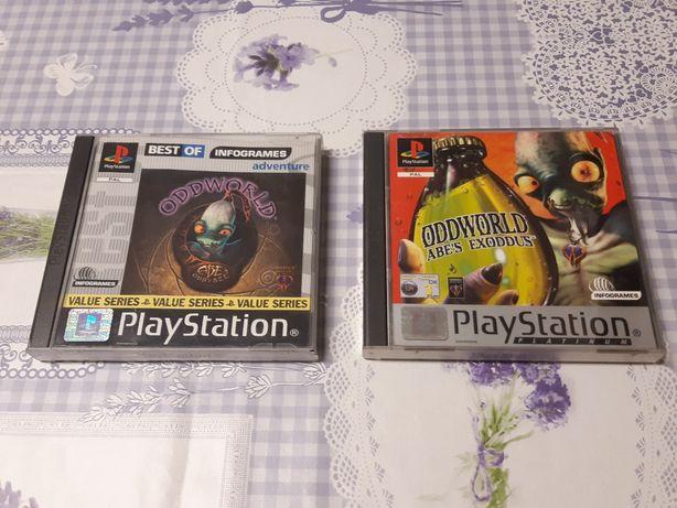 ODDWORLD ABE'S Oddysee & Exoddus para PS1 e PS2