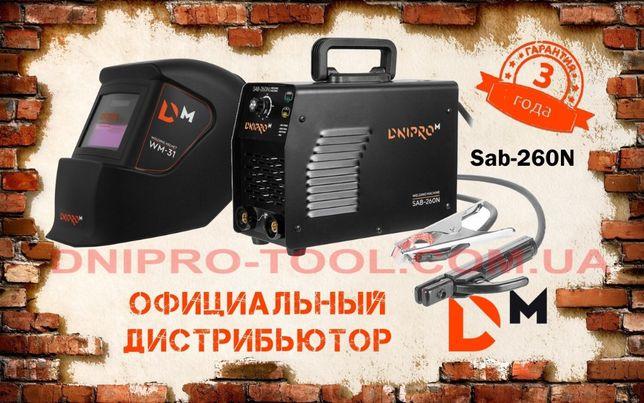 Сварочный аппарат инверторный Dnipro-M SAB-260N (сварка Днипро-М) + ха