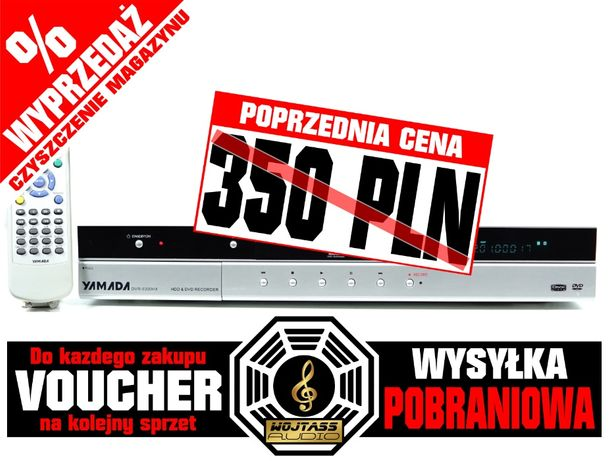 Recorder nagrywarka YAMADA DVR-9300HX * 320 GB HDD * pilot *