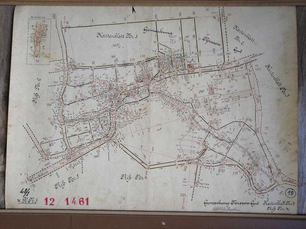 Mapa Rummelsburg - Miastko 1905 skala 1:1000