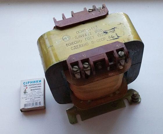 Трансформатор однофазный понижающий ОСМ1-0.4 У3, СССР, 1984