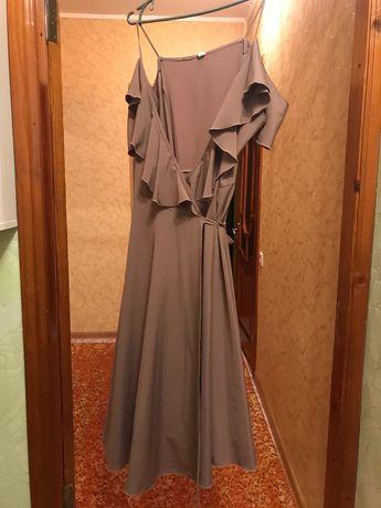 Нарядное платье-сарафан на запАх