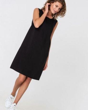 Vovk Черное платье майка из штапеля, размер S