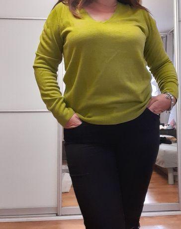 Sweterek oliwka 38 NEXT