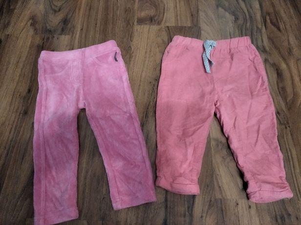 Spodnie x2 coccodrillo nowe 80