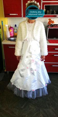 Sprzedam suknię komunijną z butami