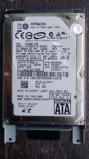 HDD/Винчестер/Жёсткий диск 2.5`` HITACHI 160GB, SATA 3, 7200RPM