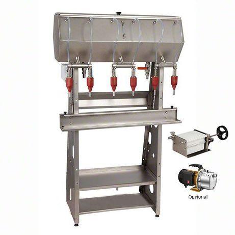 Maquina de enchimento semi-automatico por gravidade