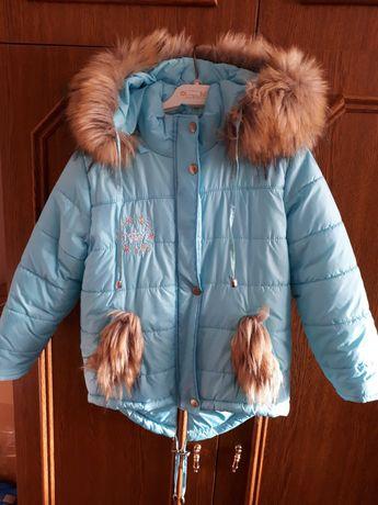 Зимова куртка  для дівчинки