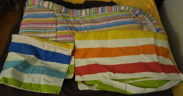 Ochraniacze do łóżeczka oraz poszewki za chusteczki nawilżone