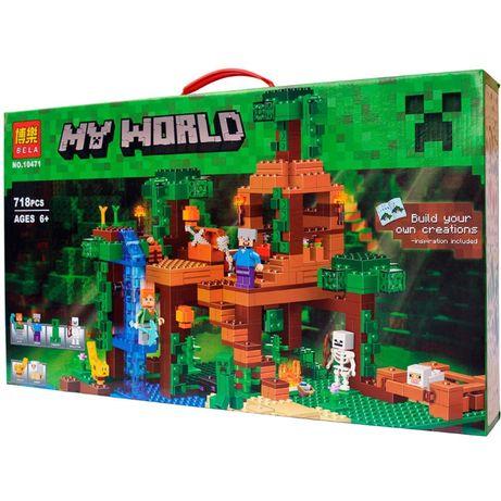 Конструктор Майнкрафт Minecraft лего совместим Домик в джунглях,