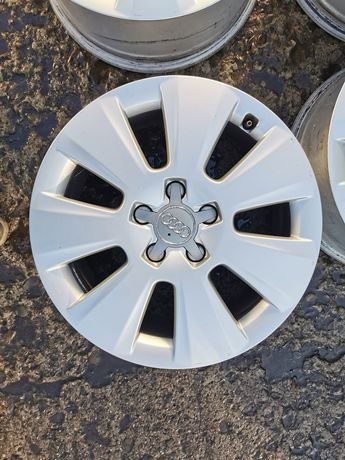 4x Alufelgi Audi 17 cali - 5x112 - 7,5J - ET45 - otwór 66, 6 mm