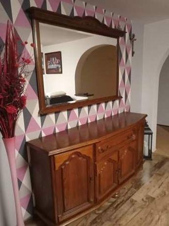 Drewniana komoda z lustrem +szafka pod tv