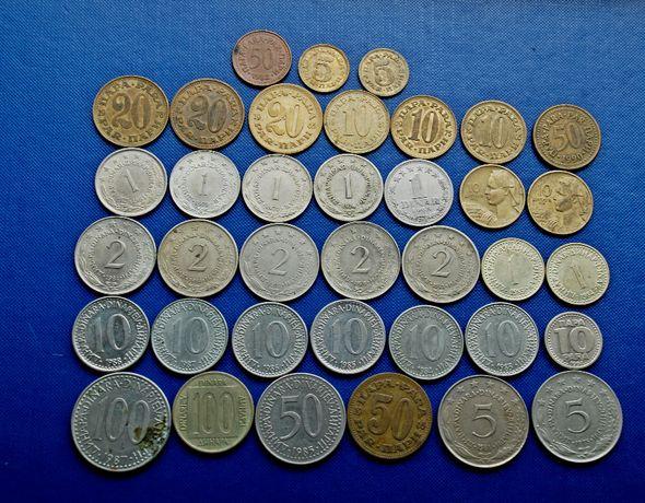 Набор монет Югославии, ЧССР Чехословакии, ГДР, Италии
