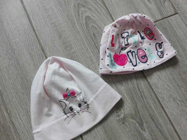 zestaw czapki czapeczek czapeczka dla dziewczynki kotek