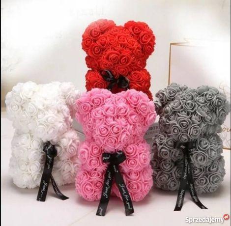 Absolutny HIT! Piękny MIś z róż na dziń kobiet! Idealny Prezent