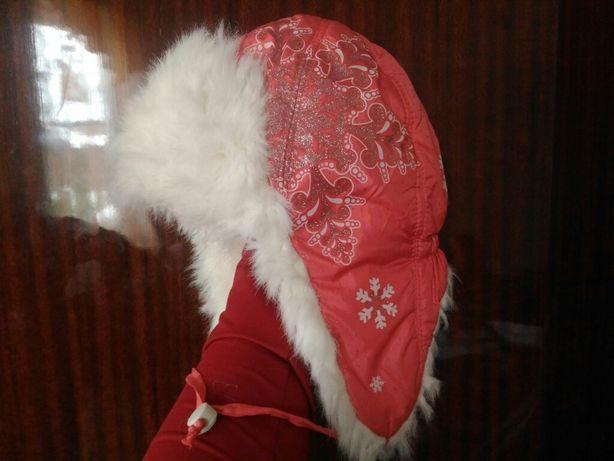 Шапка 3-5 лет ушанка зимняя детская шапочка теплая с мехом на завязках
