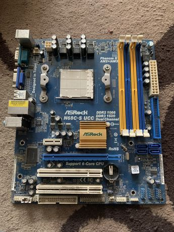 Материнская плата ASRock N68C-S UCC (sAM2 /sAM2+/sAM3, GeForce 7025, G