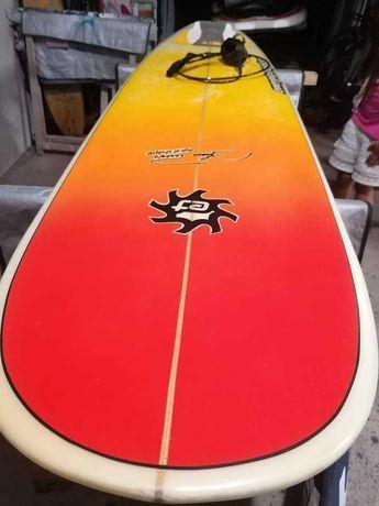 6.8 Malibu Evolution Funboard prancha de surf deck fins FCS nsp torq