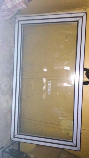 Металопластикове вікно темно коричневе (нове). Розмір 105-193см